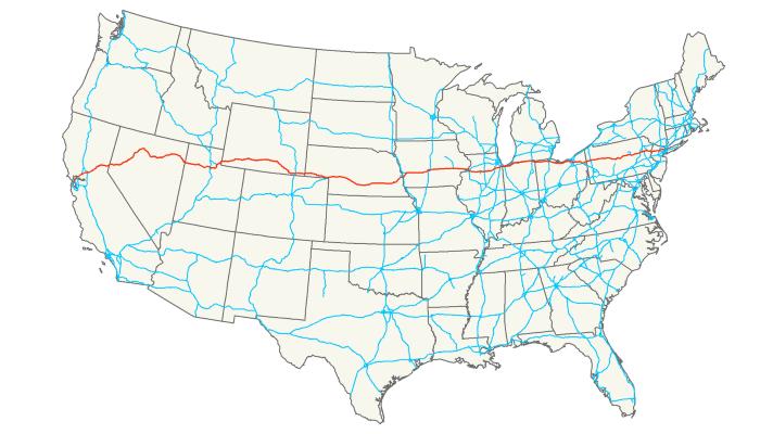 I-80 Map