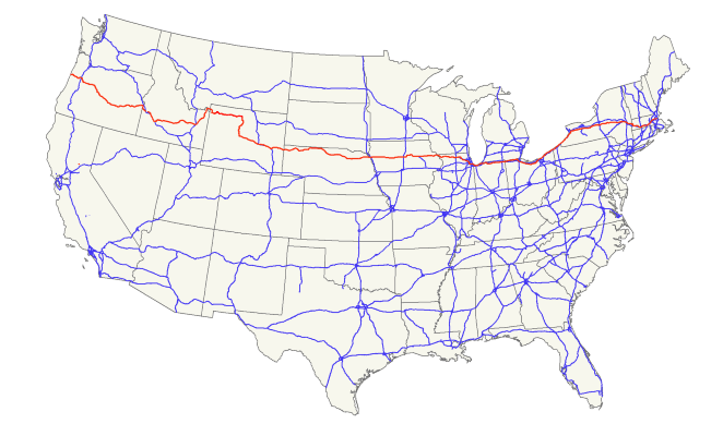 US 20 Map