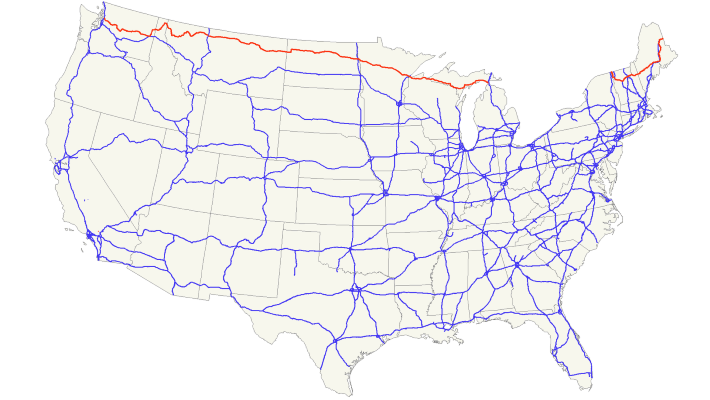 Highway US 2 Map