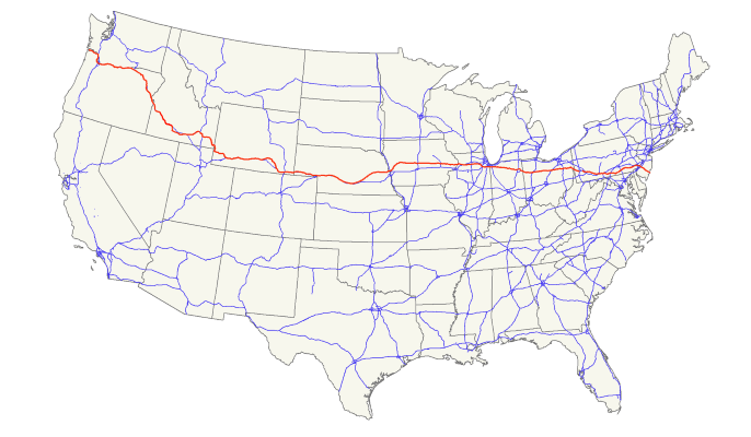 US 30 Map