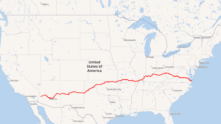 U.S. Route 60 Map