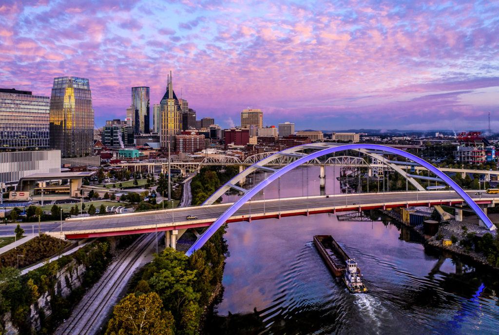 Nashville,TN Dawn Aerial